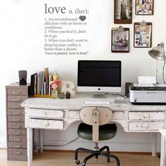 Love this study vibe!  Love Wall Vinyl - Grey from Love Lexicon Wall Art - R249 (Save 55%)