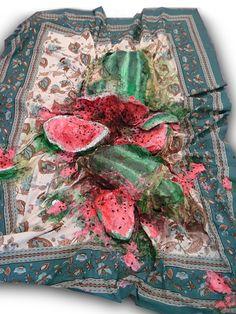 Valerie Hegarty – Exploded Watermelon on Picnic Blanket