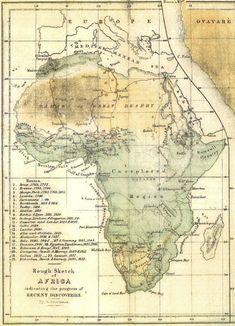 Map compiled by A Peterman showing contemporary African explorations 1853