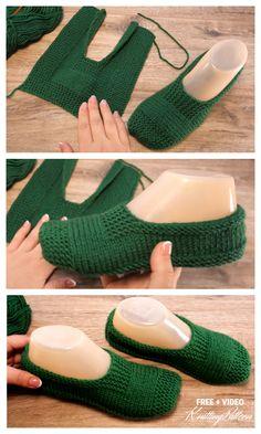 Knitting Stiches, Easy Knitting Patterns, Knitting Socks, Free Knitting, Baby Knitting, Start Knitting, Knitted Socks Free Pattern, Crochet Shoes Pattern, Shoe Pattern