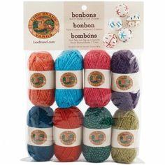 Lion Brand 601-660 Bonbons Yarn 8-Pkg-Celebrate