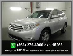 2012 Toyota Highlander Limited SUV   Front Shoulder Room: 59.7, Power Remote Passenger Mirror Adjustment, Manual Folding Third Row Seat, Side Airbag, Center Console: Full With Covered Storage,