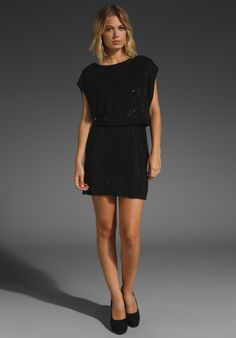 ALICE + OLIVIA Jonas Crystal Tunic Dress in Black at Revolve Clothing - Free Shipping!