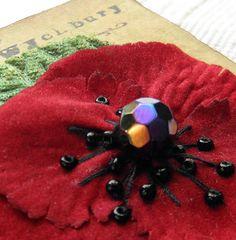 Remembrance Poppy Corsage por WychburyDesignsUK en Etsy