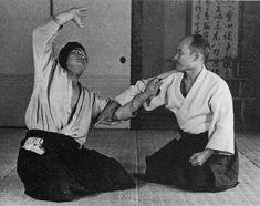 """Aikido Founder Morihei Ueshiba at the Noma Dojo, around 1936 - from the blog post """"Mr. Kimura's Aikido Memories, Part 2"""": http://www.aikidosangenkai.org/blog/kimura-aikido-memories-part-2/"""