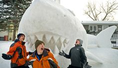 Amazing snow sculptures in America