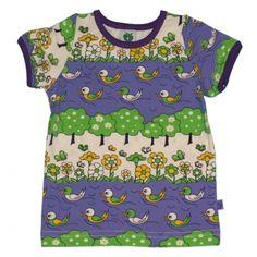T-Shirt mit Enten und Blumen, Smafolk