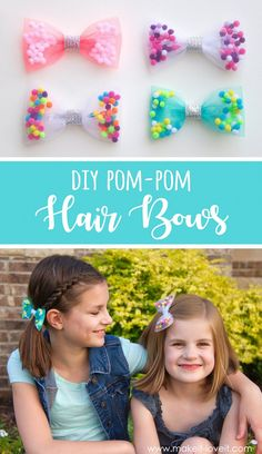 DIY Pom-Pom Hair Bows | www.makeit-loveit.com