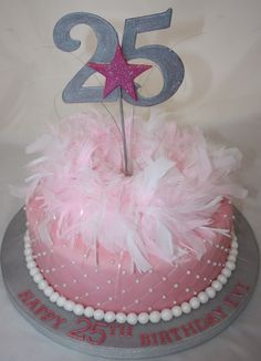 25th Birthday Cake Party Ideas Pinterest 25th