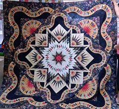 Glacier Star, Quiltworx.com, Made by Marilyn B.