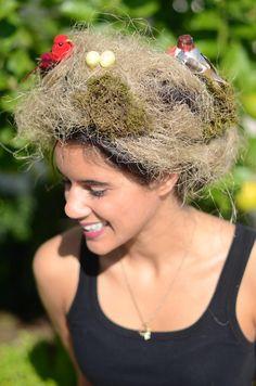 DIY Halloween Hair: DIY Halloween Hairstyles: DIY Birds Eye View