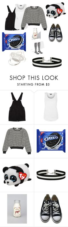 """Oreo outfit"" by mikey-patf ❤ liked on Polyvore featuring Monki, Topshop, Yves Saint Laurent, Giorgio Armani, Miss Selfridge, Converse and Sock It To Me"