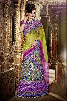 Dazzling Designer Lehenga Saree