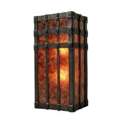 Steel Partners San Carlos Open 2 Light Wall Sconce Shade Color: Slag Glass Pretended, Finish: Old Iron Barn Lighting, Wall Sconce Lighting, Candle Sconces, Lighting Ideas, Outdoor Lighting, Filter, Modern Wall Sconces, Lodge Style, Modern Rustic Interiors