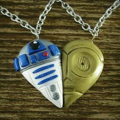 Clay star wars necklace charm
