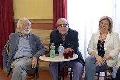 """Luca Ronconi - regia di """"Pornografia"""" - conferenza stampa 4 luglio 2013 per il Festival dei Due Mondi, con Giorgio Ferrara © Andrea Kim Mariani"""