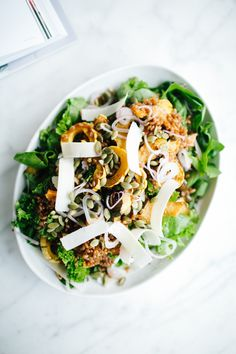 Roasted Squash and Bitter Greens Salad