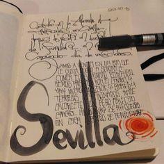 Caligrafías y apuntes de un viaje a Sevilla en oct del 2016