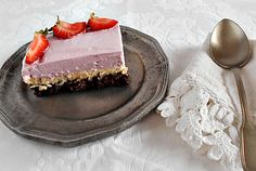 Coisas simples são a receita ...: Brownie com cheesecake de baunilha e frutos vermel...