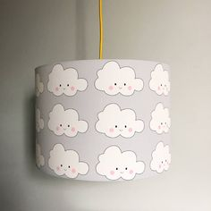 Grey white pitter patter cloudy clouds fabric lampshade cloud are you interested in our kawaii cloud handmade lampshade with our childrens cloud grey lampshades mozeypictures Images