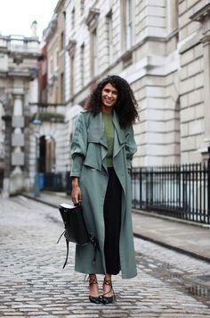 New trend alert: ( Maxi ) trench coat*** Pics via Pinterest