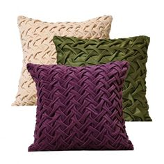 Velvet tufted cushion collection