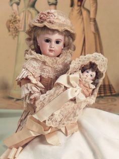 Bon-Bons For The Bonnet Ladies of Tiffin: 135 Bebe,E.J.,Size 7,by Emile Jumeau