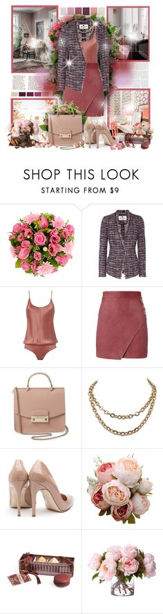 """Office Rosé"" by sheavschaaf ❤ liked on Polyvore featuring Oris, Etro, T By Alexander Wang, Michelle Mason, Furla, Rupert Sanderson and Lumière"