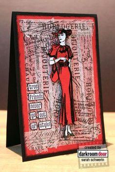 From Darkroom Door Blog.  Uses Tim Holtz Tissue Tape