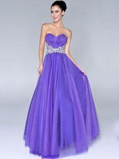 A Line Sleeveless Sweetheart Ruffles Floor Length Long Prom Dresses With Beadings