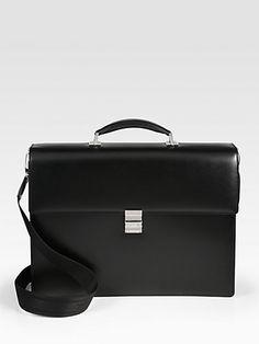 Montblanc - Leather Business Bag - Saks.com