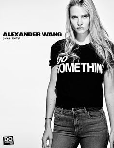 Lara Stone pour Alexander Wang x DoSomething dans l œil de Steven Klein 18