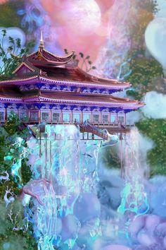 Aesthetic Backgrounds, Aesthetic Iphone Wallpaper, Aesthetic Wallpapers, Wallpaper Backgrounds, Fantasy Places, Fantasy World, Aesthetic Space, Fantasy Landscape, Wedding Art