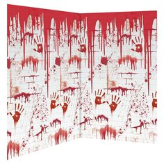 Amscan 48 in. Halloween Chop Shop Scene Setter Room Roll - The Home Depot Garage Halloween Party, Halloween Backdrop, Bloody Halloween, Adult Halloween Party, Scary Halloween Decorations, Halloween Photos, Halloween Horror, Halloween House, Vintage Halloween