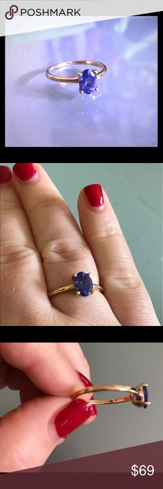 Gold and tanzanite ring Stunning 10k gold and real tanzanite ring. Beautiful deep color. I can't find my original order for this ring but I believe it is AA-AAA and size 7. Gemporia Jewelry Rings