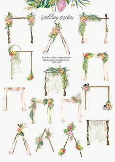 Diy Wedding Backdrop, Outdoor Wedding Decorations, Diy Wedding Arch Flowers, Wild Flower Wedding, Wedding Frames, Flower Frame, Flower Wall, Watercolor Wedding, Wedding Color Schemes