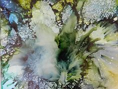 I love Tommy McDonell's method of mixing oil and acrylic inks. Next on my list of playground equipment!