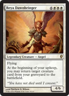 Reya-Dawnbringer-x4-Magic-the-Gathering-4x-Conspiracy-mtg-rare-angel-lot-NM