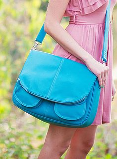 Betsy Teal Jo Tote - Big enough for laptop, camera, spare lens, and purse items.  $109