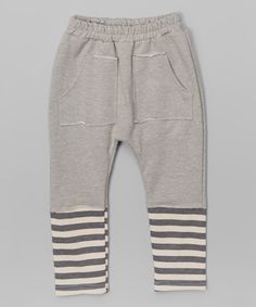 Look at this Light Gray Stripe Harem Pants - Toddler & Kids on #zulily today!