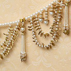 Stunning Pearls and Golden Leaves Door Hanging Toran Door Hanging Decorations, Diy Diwali Decorations, Wall Hanging Crafts, Diwali Diy, Diwali Craft, Diwali Pooja, Diwali Gifts, Handmade Decorative Items, Flower Room Decor