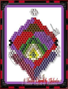 Abstract Target by Charlotte Holley, Beaded Legends by Chalaedra    New FREE Pattern for December, 2012. Abstract Target. Check it out and download it here: http://www.beadedlegends.com/MainPages/FreeNow.htm#Free