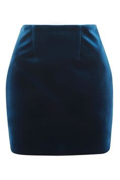 Bonded Velvet Pelmet Skirt