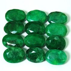 488ct Earth Mined Oval Stone Natural Green Brazilian Emerald Loose Gemstone Lot