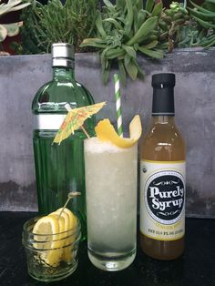 Gin Fizz: In a cocktail shaker combine 2 oz. gin, 1/2 oz. fresh lemon juice, 1/2 oz. Purely Syrup Ginger Root, and 1 fresh egg white. Shake vigorously. Top with a splash of club soda and garnish with lemon peel. Enjoy!