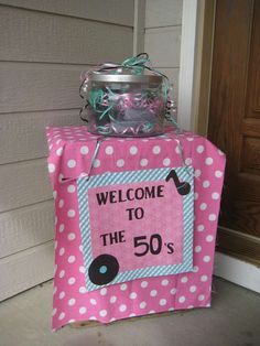 Music Party Theme Decoration Birthdays Sock Hop Ideas For 2019 1950s Theme Party, 50th Birthday Party Themes, Fifties Party, 50s Theme Parties, Moms 50th Birthday, Music Themed Parties, Retro Party, 50th Party, Music Party