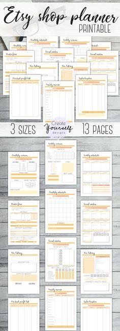 Printable Planner, Printables, Social Media Tracker, Planners, Business Planner, Etsy Business, Bullet Journal, Marketing, How To Plan