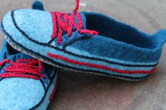 Warm hand felted slippers  Funny shoes by KoTriangle on Etsy