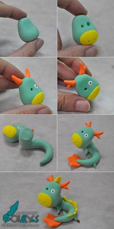 Dragon clay tutorial - could work with gumpaste...