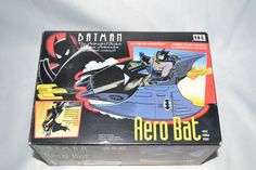 Kenner 1993 Batman The Animated Serie Aero Bat vehicule complete in Box #Kenner